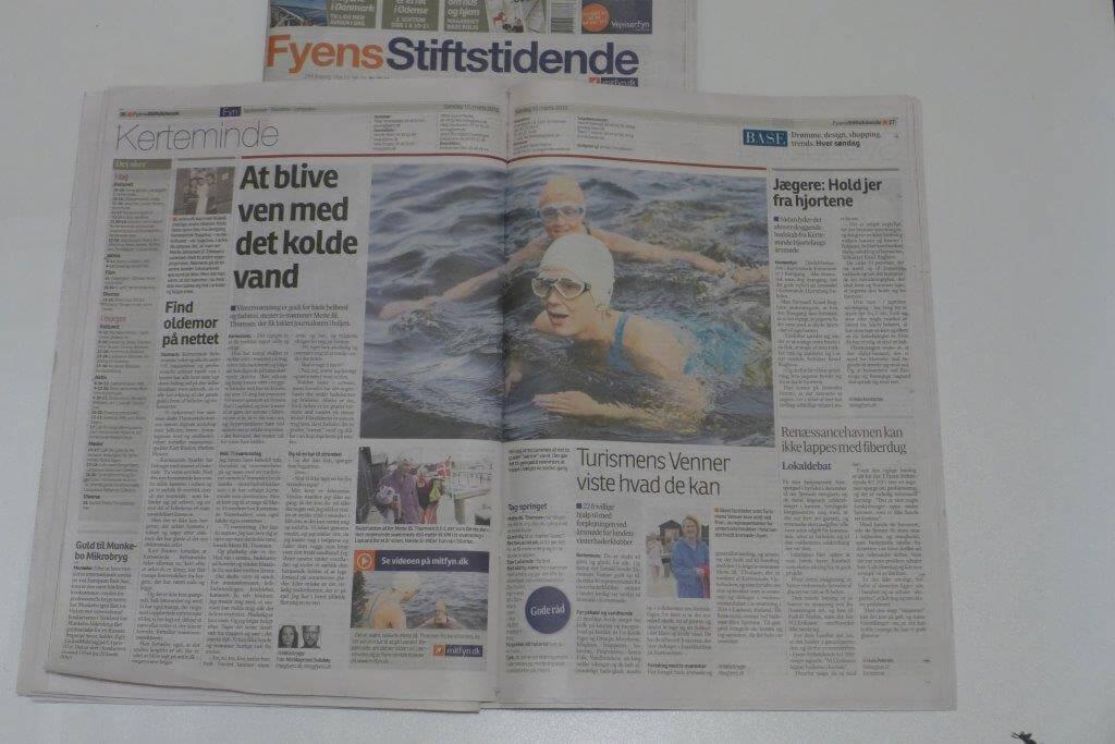 Journalist fra Fys Stiftstidende lokket i det kolde vand