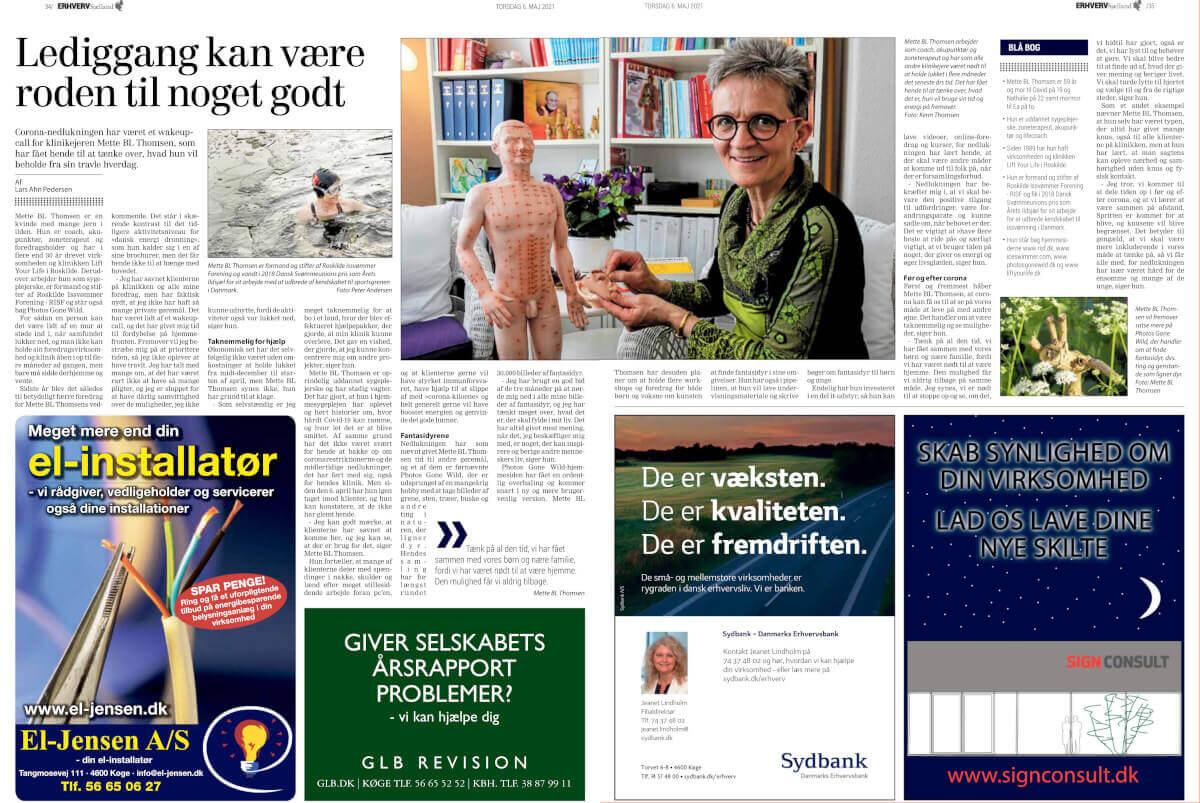 Mette BL Thomsen i Dagbladets Erhverv Sjælland