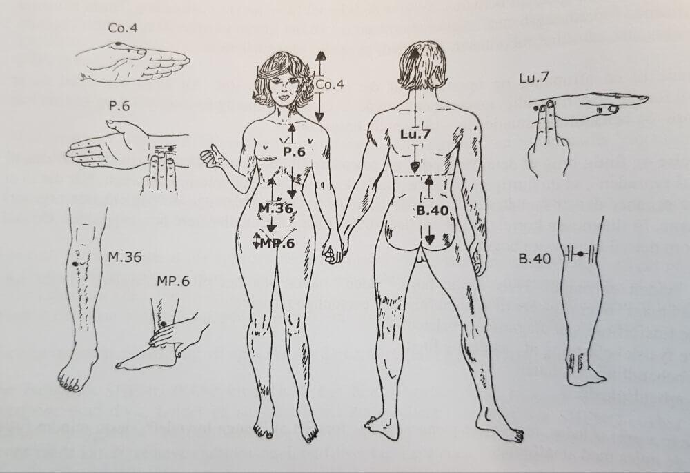 seks gode akupunkturpunkter